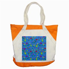 Cute Butterflies And Flowers Pattern   Blue Accent Tote Bag by Valentinaart