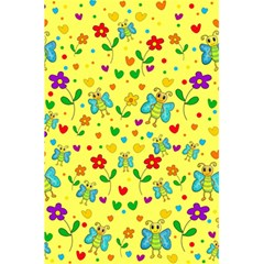 Cute Butterflies And Flowers   Yellow 5 5  X 8 5  Notebooks