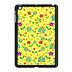 Cute Butterflies And Flowers   Yellow Apple Ipad Mini Case (black) by Valentinaart