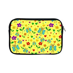 Cute Butterflies And Flowers   Yellow Apple Ipad Mini Zipper Cases by Valentinaart