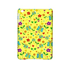 Cute Butterflies And Flowers   Yellow Ipad Mini 2 Hardshell Cases by Valentinaart