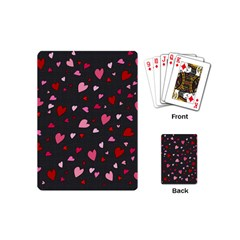 Hearts Pattern Playing Cards (mini)  by Valentinaart