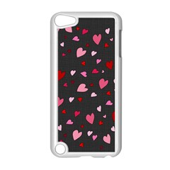 Hearts Pattern Apple Ipod Touch 5 Case (white) by Valentinaart
