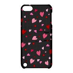 Hearts Pattern Apple Ipod Touch 5 Hardshell Case With Stand by Valentinaart