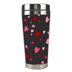 Hearts Pattern Stainless Steel Travel Tumblers by Valentinaart