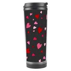 Hearts Pattern Travel Tumbler by Valentinaart