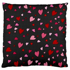 Hearts Pattern Large Flano Cushion Case (one Side) by Valentinaart
