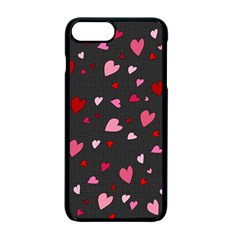 Hearts Pattern Apple Iphone 7 Plus Seamless Case (black) by Valentinaart