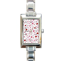 Valentine s Day Hearts Rectangle Italian Charm Watch by Valentinaart