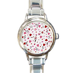 Valentine s Day Hearts Round Italian Charm Watch by Valentinaart