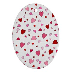Valentine s Day Hearts Ornament (oval) by Valentinaart