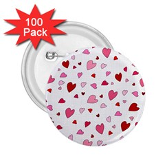 Valentine s Day Hearts 2 25  Buttons (100 Pack)  by Valentinaart