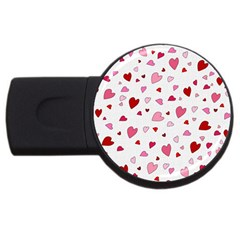 Valentine s Day Hearts Usb Flash Drive Round (4 Gb) by Valentinaart