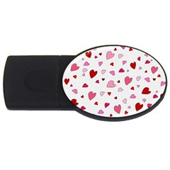 Valentine s Day Hearts Usb Flash Drive Oval (4 Gb)