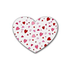 Valentine s Day Hearts Rubber Coaster (heart)  by Valentinaart