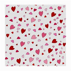 Valentine s Day Hearts Medium Glasses Cloth by Valentinaart