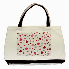 Valentine s Day Hearts Basic Tote Bag (two Sides) by Valentinaart