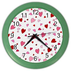 Valentine s Day Hearts Color Wall Clocks by Valentinaart
