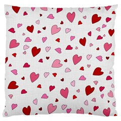 Valentine s Day Hearts Large Cushion Case (two Sides) by Valentinaart