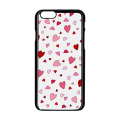 Valentine s Day Hearts Apple Iphone 6/6s Black Enamel Case by Valentinaart