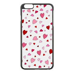 Valentine s Day Hearts Apple Iphone 6 Plus/6s Plus Black Enamel Case by Valentinaart