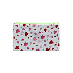 Valentine s Day Hearts Cosmetic Bag (xs) by Valentinaart