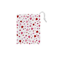 Valentine s Day Hearts Drawstring Pouches (xs)  by Valentinaart