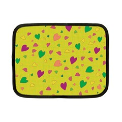 Colorful Hearts Netbook Case (small)  by Valentinaart