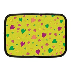 Colorful Hearts Netbook Case (medium)  by Valentinaart