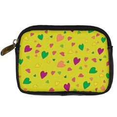 Colorful Hearts Digital Camera Cases by Valentinaart