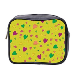 Colorful Hearts Mini Toiletries Bag 2 Side by Valentinaart