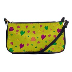 Colorful Hearts Shoulder Clutch Bags