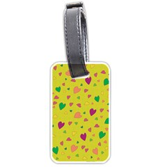 Colorful Hearts Luggage Tags (one Side)  by Valentinaart