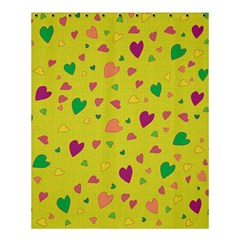 Colorful Hearts Shower Curtain 60  X 72  (medium)  by Valentinaart