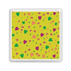 Colorful Hearts Memory Card Reader (square)  by Valentinaart