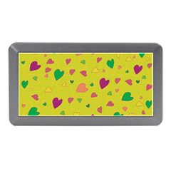 Colorful Hearts Memory Card Reader (mini) by Valentinaart