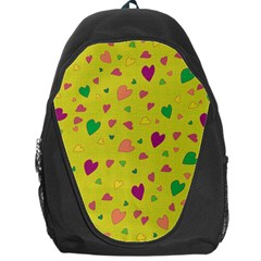 Colorful Hearts Backpack Bag by Valentinaart