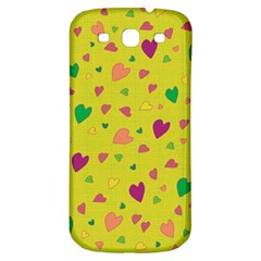 Colorful Hearts Samsung Galaxy S3 S Iii Classic Hardshell Back Case by Valentinaart