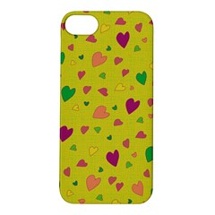 Colorful Hearts Apple Iphone 5s/ Se Hardshell Case by Valentinaart