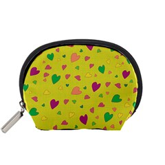 Colorful Hearts Accessory Pouches (small)  by Valentinaart