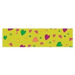 Colorful Hearts Satin Scarf (oblong) by Valentinaart