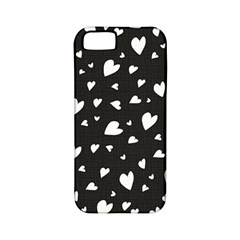 Black And White Hearts Pattern Apple Iphone 5 Classic Hardshell Case (pc+silicone)