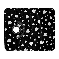 Black And White Hearts Pattern Galaxy S3 (flip/folio) by Valentinaart