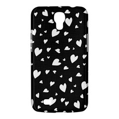 Black And White Hearts Pattern Samsung Galaxy Mega 6 3  I9200 Hardshell Case by Valentinaart