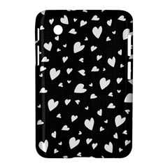Black And White Hearts Pattern Samsung Galaxy Tab 2 (7 ) P3100 Hardshell Case  by Valentinaart