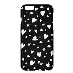 Black And White Hearts Pattern Apple Iphone 6 Plus/6s Plus Hardshell Case by Valentinaart