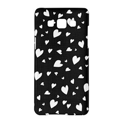 Black And White Hearts Pattern Samsung Galaxy A5 Hardshell Case  by Valentinaart