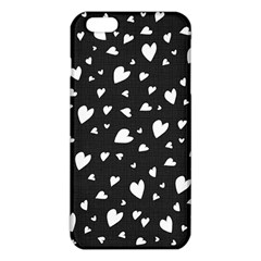 Black And White Hearts Pattern Iphone 6 Plus/6s Plus Tpu Case