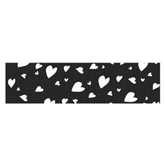 Black And White Hearts Pattern Satin Scarf (oblong) by Valentinaart