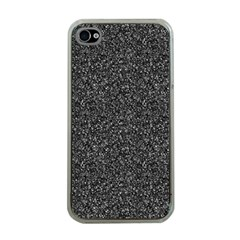 Gray Texture Apple Iphone 4 Case (clear) by Valentinaart
